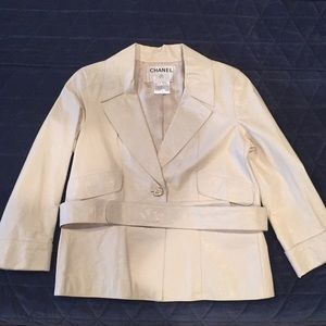 Chanel cream leather jacket